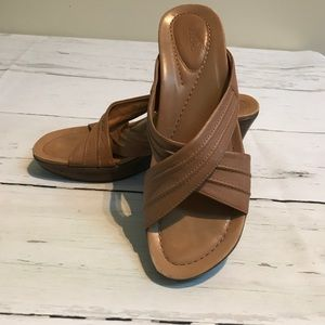 Dansko tan wedge sandal size 39